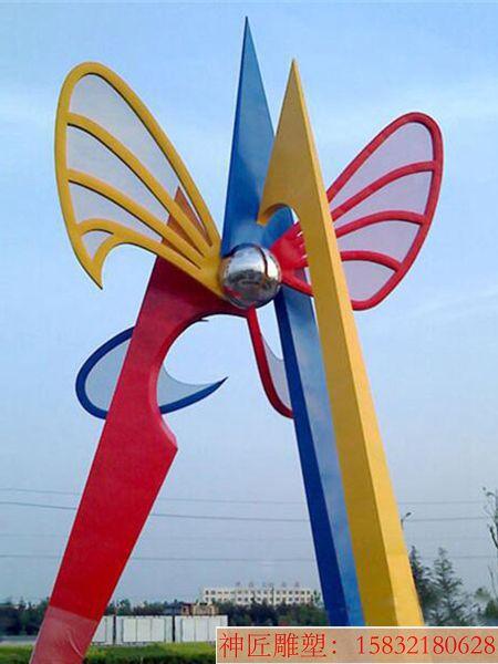 不锈钢五彩雕塑,广场彩色雕塑