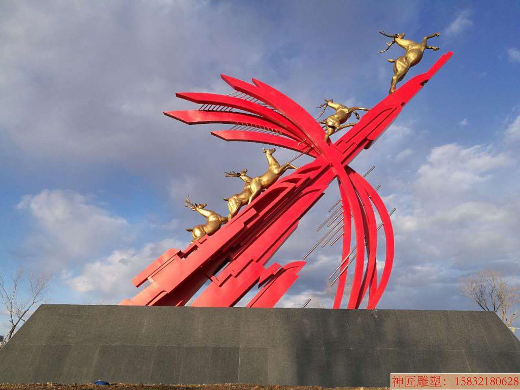大型广场弓弩雕塑,弓箭雕塑