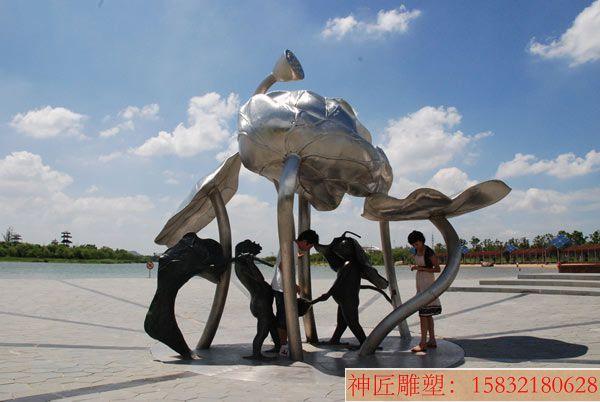 大型荷花雕塑